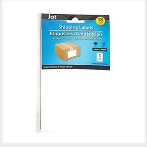 Jot Shipping labels. 4x6. New in packaging.